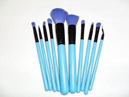 new mac makeup brushes brush kits 10 brushes blue 1 of 3only 0 available