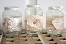 Decorate Glass Jar 100 shabby chicvintage wedding decorated glass jam jar tea light 67