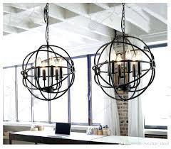 rustic orb chandelier lighting restoration hardware vintage pendant lamp iron orb chandelier rustic iron loft light globe style large pendant white rustic