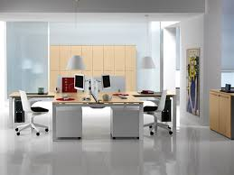 home office simple neat. Simple And Neat Office Interior Design Ideas : Beautiful Home Using White Shade A