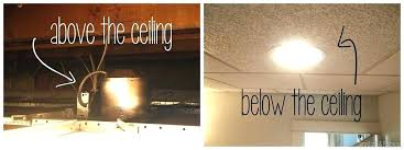 suspended ceiling lighting ideas. Drop Ceiling Lighting Ideas How To Put A Light Fixture In . Suspended