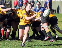 capilano rugby club premier women s team yellow in action against united blue
