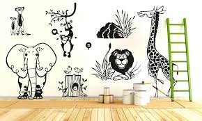 jungle wall stickers jungle animal zoo living wall stickers kids home decal removable jungle animal zoo jungle wall stickers