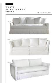 Soft Curved Arm Slipcover Sofas