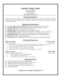 Medical Billing Job Description For Resume Ideal Medical Billing Job