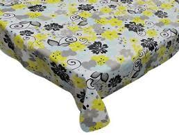 retro garden 70 round vinyl flannel backed tablecloth