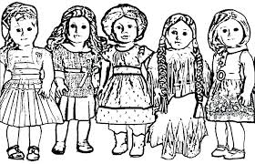 American Girl Coloring Pages X7186 Doll Coloring Pages Girl Coloring