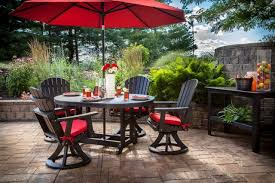 outdoor dining sets with umbrella. Extraordinaire Outdoor Dining Furniture With Umbrella Latest Patio Set Room Best Table Ideas Sets E