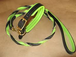 custom leather dog leashes braided colors