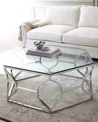 cool attractive brushed silver waves round glass coffee table you may