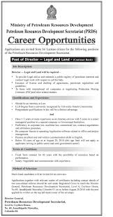 Director - Petroleum Resources Development Secretariat | Xpressjobs.lk
