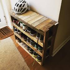 diy pallet shoe rack. Diy Shoe Rack More Pallet