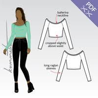 Crop Top Sewing Pattern Cool B48 Ballerina Crop Top PDF Sewing Pattern By Kommatia Patterns