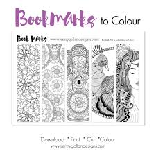 Colour Your Own Bookmarks printable template. | Adult Colouring ...