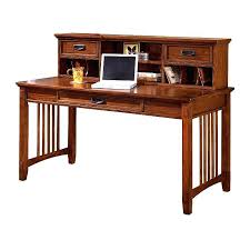 mission style desk craftsman oak and hutch view images plans free