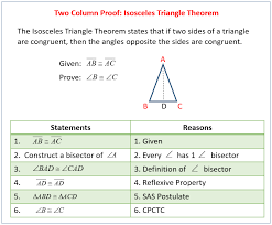 Triangle Proofs Two Column Proofs Examples Solutions Videos Worksheets