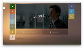 best html vcard and resume templates for your personal online resume website