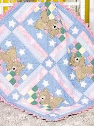 Quilting - Children & Baby Patterns - Animal Quilt Patterns ... & Quilting - Children & Baby Patterns - Animal Quilt Patterns - Sleepy Bear Baby  Quilt - Baby Quilt Pattern Adamdwight.com