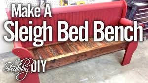 Bench Out Of Headboard How To Make A Bench From An Old Sleigh Bed Headboard Youtube