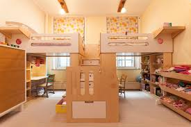 kids bedrooms for two. Delighful Kids View In Gallery Two Loft Beds Sharing A Central Staircase On Kids Bedrooms For I