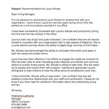 recommendation sample recommendation letter for employee from manager top form templates