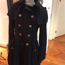 korean brand navy blue military style winter coat women s fashion clothes outerwear on carou