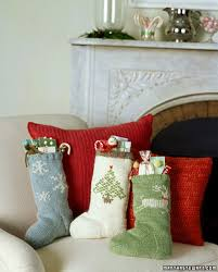 Handmade Christmas Stockings Sock Pattern For Knit Christmas Stockings Knitted Christmas