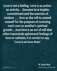 love is not a feeling love is an action an activity