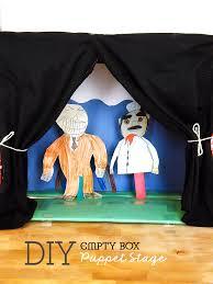 empty box diy puppet stage morehuggiesmoresavings ad