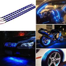 Motorrad Führte Dekorative Beleuchtung Rabatt 4 Stücke 30 Cm 15 LED Auto  Licht Blau Auto Motorrad