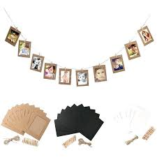 hanging picture frames with rope set vintage paper photo frame wall