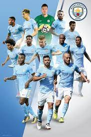 Manchester City Players 17/18 Maxi Poster