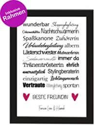 Interluxe Kunstdruck Es Gibt Gute Freunde Freundschaft Spruch