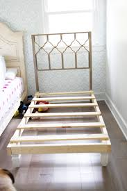 how to build your own bed {skip the boxsprings}