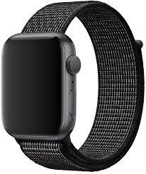 <b>Ремешок Apple</b> Sport Nike <b>Nylon Band</b> для Watch 44 мм (черный)