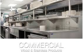 commercial wood stainless s