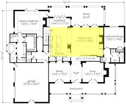 House Plan W3816 Detail From DrummondHousePlanscomFamily Room Floor Plan