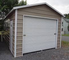 prefab steel garageetal garage kits at s you ll love free delivery and setup of durable metal garages