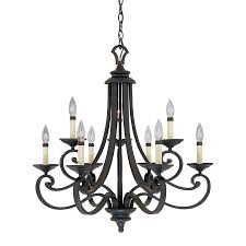 designer s fountain messina 27 75 in 9 light natural iron wrought iron candle chandelier