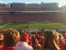 Uga Seating Chart Sanford Stadium Sanford Stadium Section 108 Home Of Georgia Bulldogs