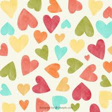 Vintage Hearts Background Vector Free Download