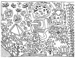 Small Picture keith haring 5 Master pieces Coloring pages for adults JustColor