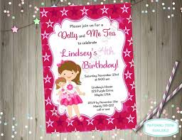 Print Out Birthday Invitations Interesting Dolly And Me Party Invitation American Dolly And Me Tea Party