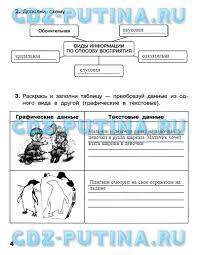 ГДЗ по информатике класс Матвеева рабочая тетрадь ответы Часть 1
