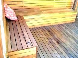 balcony storage bench deck