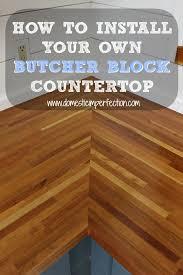 installing butcher block countertops