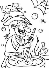 Witch Halloween Coloring Page Hallowen Coloring Pages Of