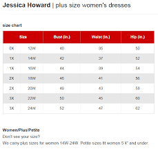 Jessica Howard Dresses Plus Size Chart Via Macys In 2019