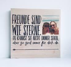 Anlässe Holzbild Spruch Freunde Mit Eigenem Foto Geschenk