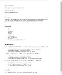 Resume Templates: Hris Analyst